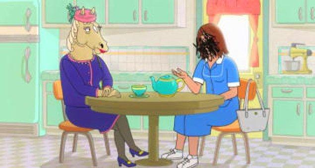 14. BoJack Horseman'in annesinin hikayesini öğrendiğimiz o sahne...