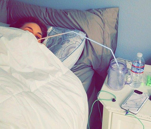 """18. """"Eşin yataktan kalkmak istemediğinde..."""""""