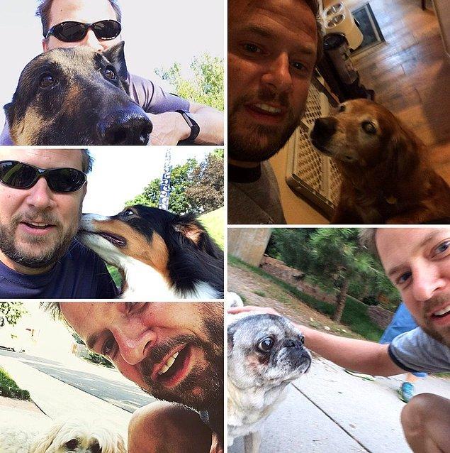 """13. """"Kocam karşılaştığı her köpekle bir selfie çeker."""""""