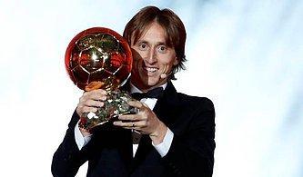Messi ve Ronaldo'nun Tahtı Yıkıldı! Yılın Futbolcusu Ödülü Modric'in Oldu