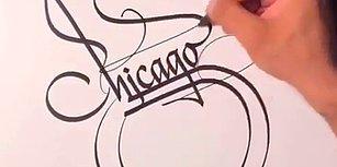 Türk Kaligrafi Ustası Muhammed Başdağ'ın Chicago Bulls'dan Gelen İstek Üzerine Yaptığı Çizim!