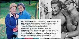 Zeki Müren'in Cüneyt Arkın'la Fotoğrafına Gelen 'Homofobik' Yorumlara Datça Belediyesi'nden Kapak Gibi Cevap!