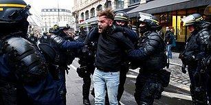 Dünyanın Gözü Fransa'da: 'Sarı Yelekliler' Sokaklarda, Yüzlerce Gözaltı Var