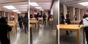 Fransa'da 'Sarı Yelekliler' Eylemleri Sırasında Apple Mağazası Yağmalandı!