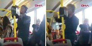 Belediye Otobüsünde Müziğin Ritmine Kendini Kaptırıp Çılgınca Dans Eden Genç