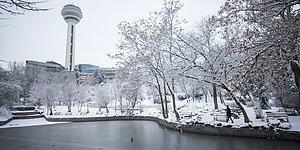 Kar Yağışı Kent Genelinde Etkili Oldu: 15 Fotoğraf ile Beyaza Bürünen Ankara