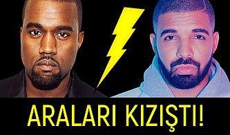 Drake'e Sinirlenen Kanye West Onlarca Anlamsız Tweet Attı, Ortalık Karıştı!