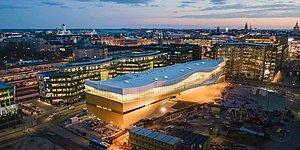 98 Milyon Euro'ya Mal Olan Finlandiya Halk Kütüphanesi Görenleri Büyülüyor!