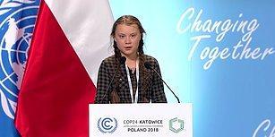 15 Yaşındaki Aktivist Greta Thunberg'in Konuşması BM İklim Zirvesi'ne Damgasını Vurdu