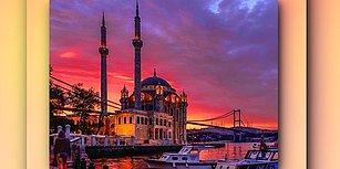 Güneş Güzel Battı, Vatandaş Kamerasına Sarıldı! İstanbul'da Yaşanan Gün Batımından Hayranlık Uyandıran 35 Kare