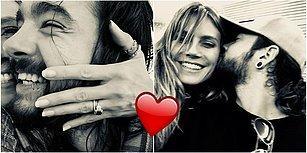 Gözlerimizden Kalpler Fışkırdı: Dünyaca Ünlü Model Heidi Klum Müzisyen Sevgilisi Tom Kaulitz ile Nişanlandı!