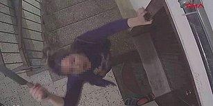 Kendisini Şikayet Eden Komşusunun Kapısına Satırla Saldıran Kadın