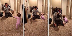 Kollarını Açan Babasını Pas Geçerek İçinde Yemek Olan Poşete Yönelen Karnı Aç Bebek
