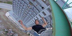 Metrelerce Yükseklikte Ölüme Meydan Okuyan Adrenalin Bağımlısı Genç