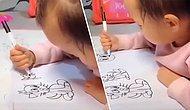 Resim Yapmak İçin Doğmuş! Henüz 1 Yaşında Olmasına Rağmen Muhteşem Çizimler Yapan Bebek!