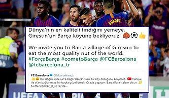 Giresunspor'dan Barcelona'ya Davet: 'Dünyanın En Kaliteli Fındığını Yemeye Bekliyoruz'