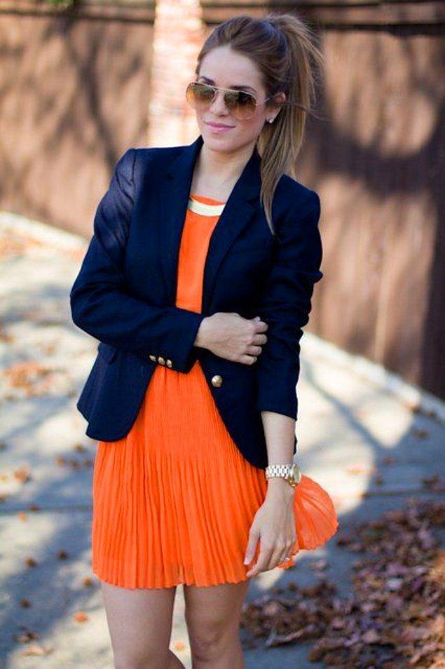 11. Bahar aylarında da turuncuyu çok seviyoruz,