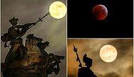 🔭 15 Fotoğrafla Dünyanın Kafasını Gökyüzüne Çevirdiği 2019'un İlk Kanlı Ay Tutulması