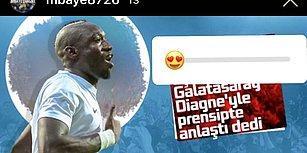 Süper Lig'in Gol Kralı Diagne'nin Galatasaray Paylaşımı Taraftarları Heyecanlandırdı