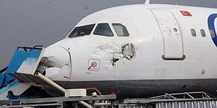 Uçaklar Sürüklendi Otobüsler Devrildi: Hortumun Vurduğu Antalya Havalimanı'nda Korkutan Manzara