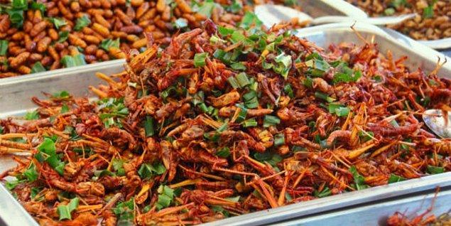Uzak Doğu ülkelerinin vazgeçilmez yiyeceği böcekler, batı tarafından her zaman iğrenç bulundu. Ancak şimdi böcekler, yeni beslenme trendi olabilir. Tozları, makarnaları, çorbaları, pudingleri, köfteleri üretilebilir.