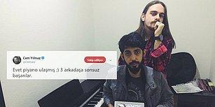 Cem Yılmaz Öğrencilerin Piyano İsteğini Geri Çevirmedi: 'Üç Arkadaşa Sonsuz Başarılar'