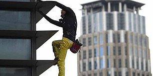 Fransız Örümcek Adam, Filipinler'de 213 Metre Yüksekliğindeki Binaya Tırmandı!