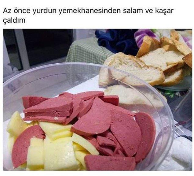 Kaşar salam partisi var bu gece. :)