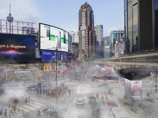 Kuala Lumpur da hava kirliliği konusunda 64. sırada.