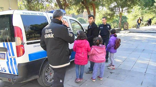 Güvenlik görevlileri müdahale ederek çocukları raydan aldı. Olay yerine gelen polis ekipleri de bu kişiyi gözaltına aldı.