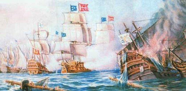 1695: Koyun Adaları Muharebesi: Venedik Cumhuriyeti Donanması ile Karaburun Yarımadası açıklarındaki Koyun Adaları önünde yapılan deniz muharebesi, Osmanlı Donanması'nın zaferiyle sonuçlandı.