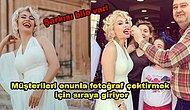 """Marilyn Monroe'ya Benzetildiği İçin Türkiye'nin Dört Bir Yanından Ziyaretçisi Olan Mardin'in """"Marilyn Monroe""""su: Melek Akarmut"""