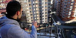 Rize'de Yaşayan Vatandaş Markete Gitmeye Üşendi, Evinin Balkonuna Teleferik Kurdu: 'İn Çık Zor Oluyor'