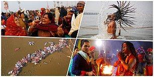 Günahlarından Arınıyorlar: Hinduların Üç Yılda Bir Düzenlenen Kumbh Mela Festivali'nden Renkli Görüntüler