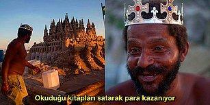 """Kira Derdi Yok! Tek Odalı Kumdan Kalesinde 22 Yıldır Mutlu Mesut Yaşamını Sürdüren """"Kum Kralı"""" Lakaplı Adam"""
