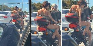 Motosikletin Üzerinde Bacaklarını Tıraş Eden Sülalesi Rahat Kadın