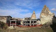 Kültür Bakanlığı Duyurdu: Peribacalarındaki  Otel İnşaatının Yıkımına Başlandı
