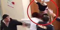 Kavga Ettiği Polisin Üzerine Bebeğini Fırlatmaya Çalışan Öfkeli Kadın
