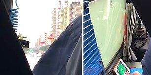 Adana'da Seyir Halindeyken Bir Yandan Telefonundan Okey Oynayan Otobüs Şoförü