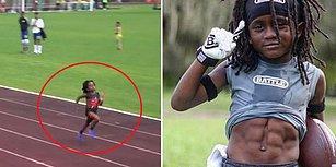Dünya, Geleceğin Bolt'unu Konuşuyor: 7 Yaşında Ama 100 Metreyi 13 Saniyede Koşuyor!