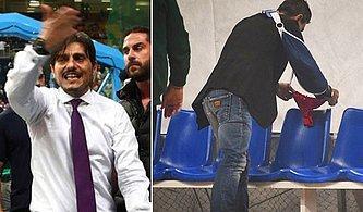 Panathinaikos'un Başkanı Sahaya Çıkmayan Olympiakos'un Kulübesine Kırmızı İç Çamaşırı Bıraktı