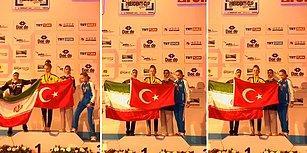 Madalya Töreninde Yaptığı Bayrak Hareketi ile Törene Damga Vuran Türk Taekwondocu!