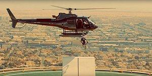 Helikopterden Atladığı Bisikleti ile Dubai'nin Simge Otelinde Olağan Dışı Bir Gösteri Yapan BMX Yıldızı Kriss Kyle