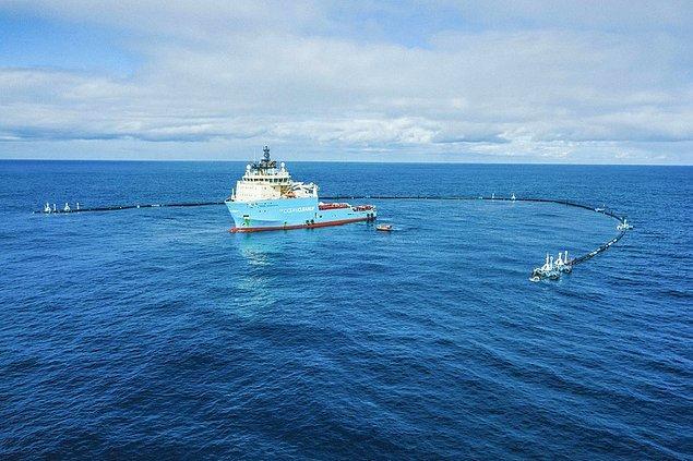 10. Denizde bulunan plastikler için kurulmuş bir tuzak