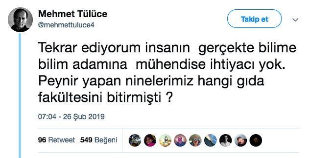 Twitter'da bulunan Mehmet Tülüce isimli bu hesabın ise yukardaki insanlarla ilgili dahiyane bir fikri var. Buyurun!
