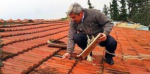 Müdürü Olduğu Okulun Çatısını Hizmetlilerle Birlikte Onardı: 'Devlete Yük Olmak İstemedim'