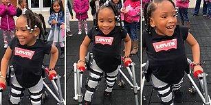 Doğuştan Sahip Olduğu Hastalığı Yüzünden Yürüyemeyen 4 Yaşındaki Çocuğun İlk Adımlarını Attığı Muhteşem Anlar!