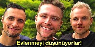 Ben,Sen, O! Gittikleri Tatilde Aynı Erkeğe Aşık Olup Üçlü İlişki Yaşamaya Başlayan Eşcinsel Çift