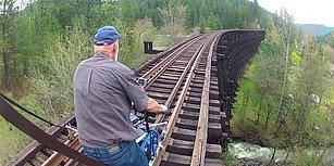 Sıradan Bisikletleri Demir Yolu Bisikletine Dönüştüren İnsanların Kaydettikleri Muhteşem Görüntüler!