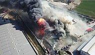 Hadımköy'deki Fabrika Yangını, Saatler Sonra Kontrol Altına Alındı